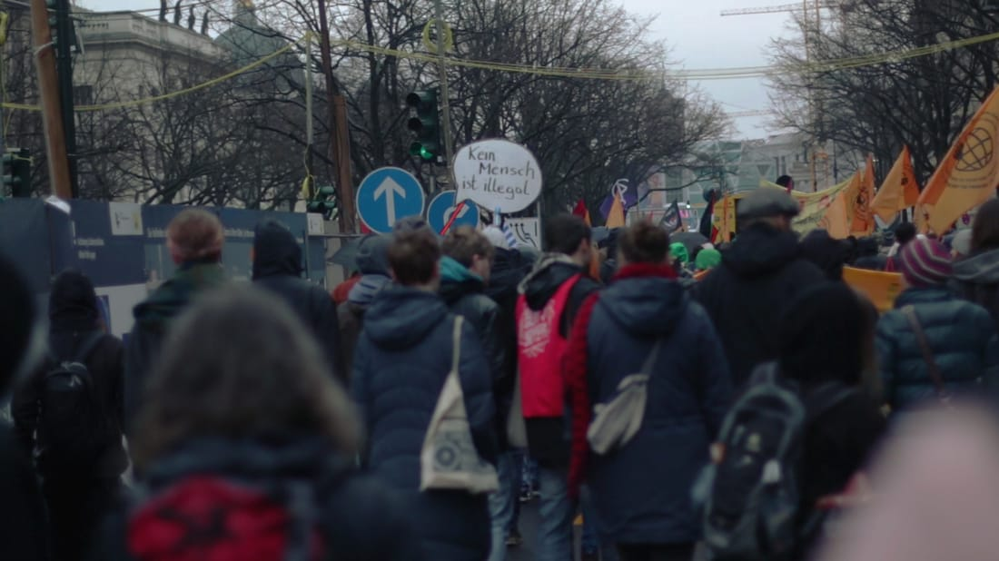 Photograph, anti-racism march in Berlin, 2015